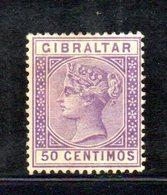 XP4522 - GIBILTERRA 1889 , Unificato N. 26  Nuovo  *  (2380A) . - Gibilterra