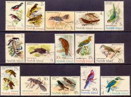Norfolk Island 1970-71 SG 103-17 Compl.set Used Birds - Norfolk Island