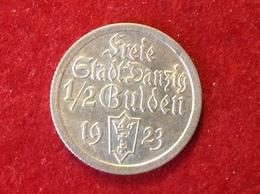 Münze Freie Stadt Danzig Halber Gulden Silber 1923 Jaeger D6 - [ 3] 1918-1933: Weimarer Republik