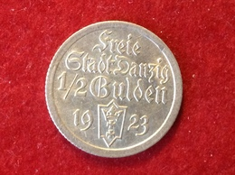 Münze Freie Stadt Danzig Halber Gulden Silber 1923 Jaeger D6 - [ 3] 1918-1933 : Weimar Republic