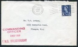 1969 GB Dunfirmline H.M.S. DREADNOUGHT Cover, Royal Navy - 1952-.... (Elizabeth II)