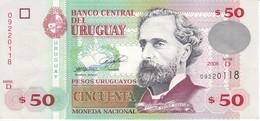 BILLETE DE URUGUAY DE 50 PESOS DEL AÑO 2008 EN CALIDAD EBC (XF) (BANKNOTE) - Uruguay