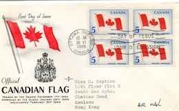CANADA - 1965, New Canadian Flag Mi. 383 - Yv. 363 Serie Cpl. 1v. In Quartina Su Busta FDC - Premiers Jours (FDC)
