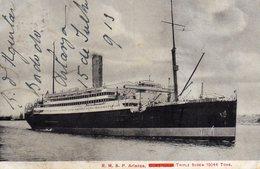 Paquebot R.M.S.P. ARIANZA Cachet Au Dos 15 Juillet 1918 - Paquebots