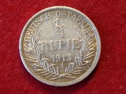 Münze Deutsch Ostafrika Viertel Rupie Silber 1913 A Jaeger N720 - Africa Della Germania Dell'Est