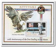 Aitutaki 1989, Postfris MNH, Birds, Space - Aitutaki