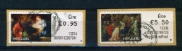 IRELAND  - 2012  Christmas  Stamps On A Roll  Full Set Of 2  CDS  Used  (stock Scan) - 1949-... République D'Irlande