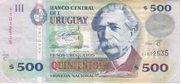 BILLETE DE URUGUAY DE 500 PESOS DEL AÑO 2006  (BANKNOTE) - Uruguay