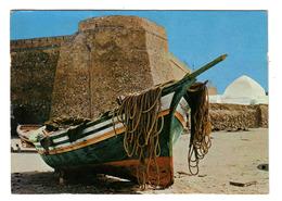 Tunisie Hammamet Le Fort Beau Plan Bateau De Pêche - Tunisie