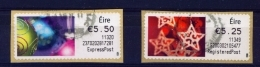IRELAND  - 2011  Christmas  Stamps On A Roll  Full Set Of 2  CDS  Used  (stock Scan) - 1949-... République D'Irlande