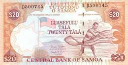 SAMOA 20 TĀLĀ ND (2002) P-35b UNC SIGN. RETZLAFF & SCANLAN [WS110c] - Samoa