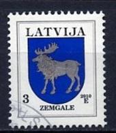 Lettonie - Lettland - Latvia 2010 Y&T N°752 - Michel N°(?) (o) - 3s Armoirie De Zemgale - Lituanie