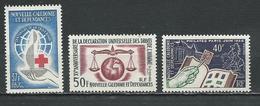 NLLE CALÉDONIE Scott 328, 329, 341 Yvert 312, 313, 325 (3) *VLH Cote 22,50 $ 1963-4 - Neufs