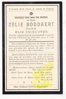 DP Im. Mort. - Zelie Boddaert ° 1863 FR Nord ? † Watou Poperinge BE 1912 X Elie Chirouter / Abele (zie Info) - Images Religieuses