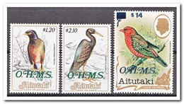 Aitutaki 1988, Postfris MNH, Birds, O.H.M.S. - Aitutaki