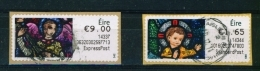 IRELAND  - 2014  Christmas  Stamps On A Roll  Full Set Of 2  CDS  Used  (stock Scan) - 1949-... République D'Irlande