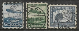 Germany, 1936, Zeppelins, 50pf, 75pf, 25pf Used - Germany