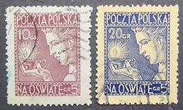Poland 1927 Regular Issue, Complete Set, Mi #247-248, Use, CV 34 EUR - 1919-1939 Republic