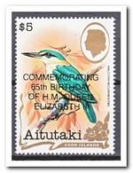 Aitutaki 1991, Postfris MNH, Birds With Overprint - Aitutaki