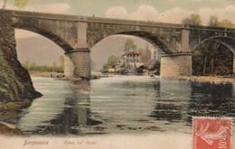 BORGOSESIA-VECELLI-PONTE SUL SESIA-CARTOLINA VIAGGIATA IL 27-8-1911 - Vercelli