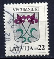 Lettonie - Lettland - Latvia 2007 Y&T N°669 - Michel N°695 (o) - 22s Armoirie De Vecumnieki - Lituanie