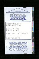 Biglietto Autobus Italia - Unico Napoli Biglietteria Automatica Da 90 Minuti Euro 1,30 - Bus