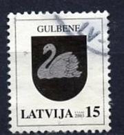 Lettonie - Lettland - Latvia 2003 Y&T N°556 - Michel N°586 (o) - 15s Armoirie De Gulbene - Lituanie