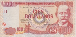BILLETE DE BOLIVIA DE 100 BOLIVIANOS DEL AÑO 1986 (BANKNOTE) - Bolivia