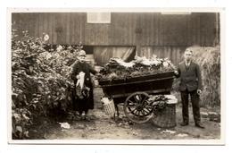 CARTE PHOTO,marchand De Quatre-saisons.commerce Ambulant Charrette De Légumes.             .E.9 - Händler