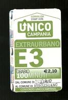 Biglietto Autobus Italia - Unico Campania - E.3 Extraurbano 100 Min. Euro 2.10 Tipo 2 - Bus