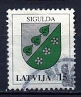 Lettonie - Lettland - Latvia 2002 Y&T N°531 - Michel N°564 (o) - 15s Armoirie De Sigulda - Lituanie