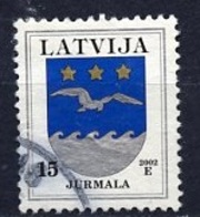 Lettonie - Lettland - Latvia 2002 Y&T N°528 - Michel N°522II (o) - 15s Armoirie De Jurmala - Lituanie