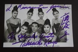 TAKEUCHI KEIGO . PIN-UP SEXY Photo Original D'epoca Fashion  Cabaret - Espana / Spain  1960s Real Autograph - Artistes