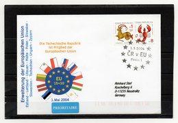 Tschechische Republik, 2004, Brief (echt Gelaufen) Mit Sonderstempel CR Ist Mitglied Der EU - Tchéquie
