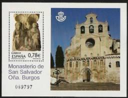 2010-ED. 4611 H.B.-MILENARIO DEL MONASTERIO DE S. SALVADOR DE OÑA.BUEGOS-NUEVO - Blocs & Hojas