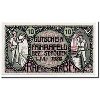 Billet, Autriche, Fahrafeld, 10 Heller, Personnage, 1920, 1920-07-01, SPL - Autriche