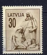 Lettonie - Lettland - Latvia 1992 Y&T N°292 - Michel N°327 (o) - 30k Vieil Homme Et Combattant - Lituanie