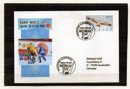 Schweden, 2004, Brief (echt Gelaufen) Mit Sonderstempel Bandy-World-Cup - Suède
