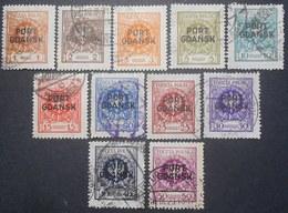 Poland - Port Gdansk 1925 Regular Issue, Complete Set, Mi #1-11, Used, CV=45€ - 1919-1939 Republic