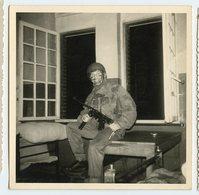 Homme Man Militaire  Spa 1966 France Carre Camouflage - Guerre, Militaire