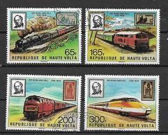 REPUBBLICA DELL'ALTO VOLTA 1979  SIR ROWLAND HILL YVERT. 484-487 USATA VF - Alto Volta (1958-1984)
