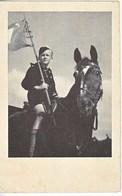 Propaganda Card  HITLER  YOUTH ON  HORSEBACK - Briefe U. Dokumente