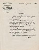 Facture V. VIAL / Fabrique D'huile / Rocourt Par Lamarche / 88 Vosges - France