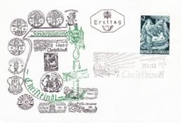 Weihnachten 1963: Heilige Familie FDCChristkindl (ANK 1173, Mi 1143) - FDC