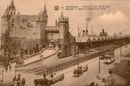 (96)  CPA  Anvers  Steen  Et Quai Van Dyck  (Bon Etat) - Antwerpen
