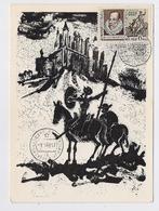 CARTE MAXIMUM Mail Used CM Card USSR RUSSIA Literature Spain Cervantes Don Quichotte Horse Painting Alonso Argentina - Cartes Maximum