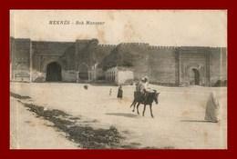 Meknes * Bab Mansour    (scan Recto Et Verso ) - Maroc