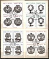 Zu 1250-1253 / Mi 2039-2042 / YT 1961-1964 Artisanat Blocs De 4 Obl. 1er Jour SBK 59,- - Suisse