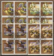 Zu 1222-1225 / Mi 2002-2005 / YT 1928-1931 Légendes Blocs De 4 Obl. 1er Jour SBK 59,- - Suisse