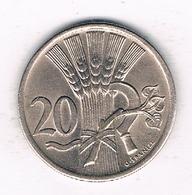 20 HALLER  1921  TSJECHOSLOWAKIJE /2543/ - Tchécoslovaquie